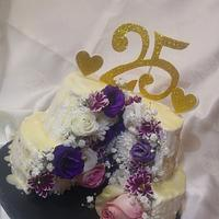 My birthday flowers cake