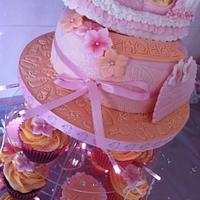My daughters christening cake