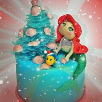 Ariel and her Christmas Tree