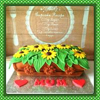 Mothers Day Sunflower planter