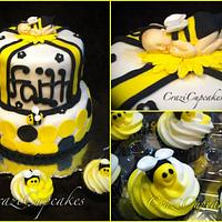 """mom to bee"" baby shower cake!"