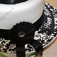 black and white theme cake!! by shahin
