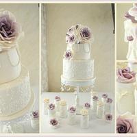 Lavender and Lace Vintage Wedding