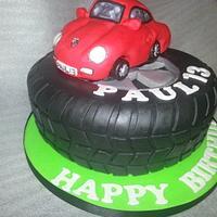 porsche 911 tyre cake