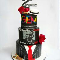 Gangster themed cake