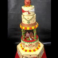 south indian traditional wedding cake