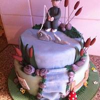 2 Tier Fishing Cake