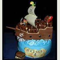 pirate galleon cake