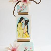 Japanese painted wedding cake - Silver award