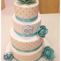 Tiffany & peony cake