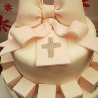 Christening Cake  by FabcakeMama