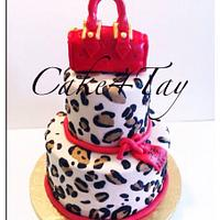 LV purse & leopard