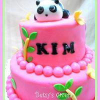 Pink Panda Cake