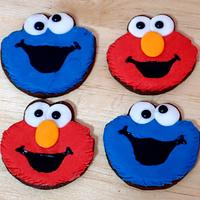 Elmo and Cookie cookies