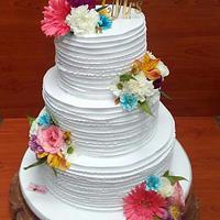 Whipped cream wedding cake