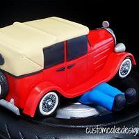Mechanic Vintage Car Cake