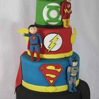 DC Superhero cake!