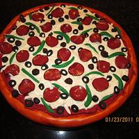 Pizza Cake by Michelle