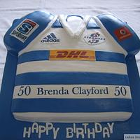 Stormers rugby shirt cake