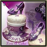 Purple Shoe-themed Debutante Cake by genzLoveACake