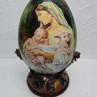 Painted sugar egg