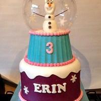 Olaf snow globe!