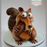 Scrat - Ice age cake