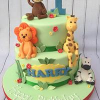 Jungle cake for Harry