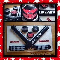 Ice hockey sticks by Gemma Coupland