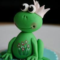 sweet little frog topper