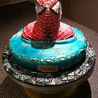 my first attempt at a spiderman cake   by mick
