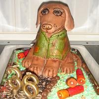 hunting dog cake by daniela