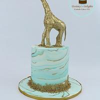 Marbled Gold Giraffe Cake