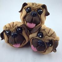 Pug Cupcakes