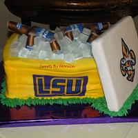 LSU Beer Cooler Groom's Cake