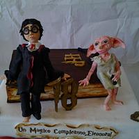 Harry Potter and Dobby,the free elf