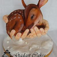 Baby Deer Fawn cake (gravity)