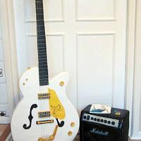 Lifesize Guitar and amp cake