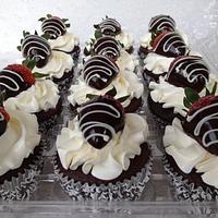 Ganache cupcakes