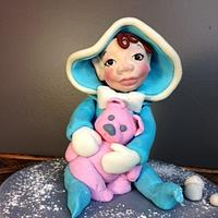 Snow Baby cake topper