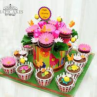 Garden Theme Cupcake Bouquet