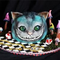 Cheshire Cat Cake | Alice in Wonderland