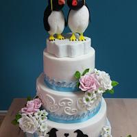 Penguin weddingcake