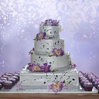 White with Purple Floral