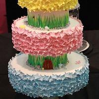 blossom garden wedding cake