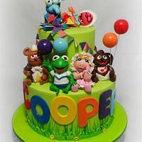 Baby Muppets 1st Birthday Cake