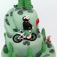 Mountain Biking by Wayne