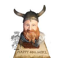 Viking head cake