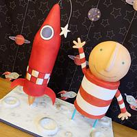 Oliver Jeffers' 'How To Catch A Star' cake
