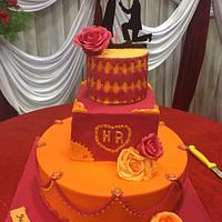 Indian engagement cake❤️